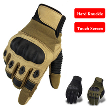 Military Hard Knuckle Army Combat Gloves Tactical Hunting Armed Mittens Outdoor Sport Touch Screen Full Finger
