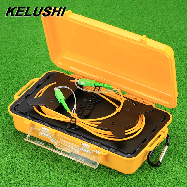 KELUSHI OTDR Dead Zone Eliminator Fiber Optic OTDR Launch Cable Box 1km SM  SIngle Mode 9/125 SC  APC Connectors 1310/1550nm