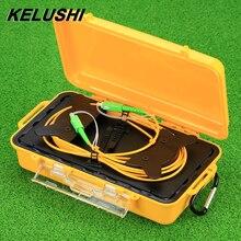 Kelushi Otdr Dode Zone Eliminator Glasvezel Otdr Launch Kabelbox 1Km Sm Single Mode 9/125 Sc Apc connectors 1310/1550nm
