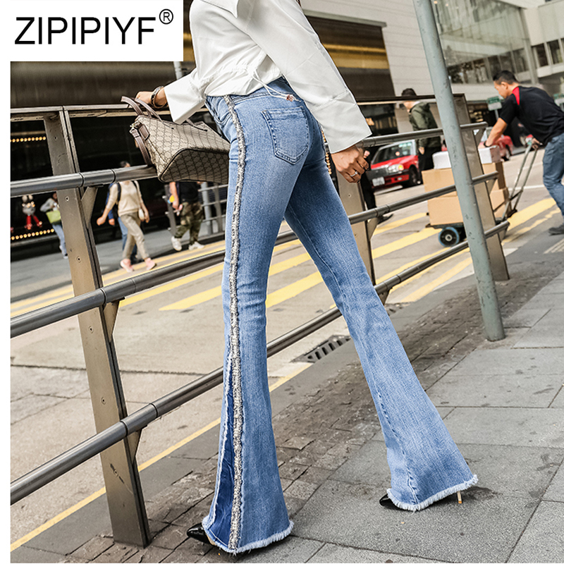 Korea Style Jeans Women Casual High Waist Denim Jeans Bodycon Long Pants Trousers Female Washed Elegant
