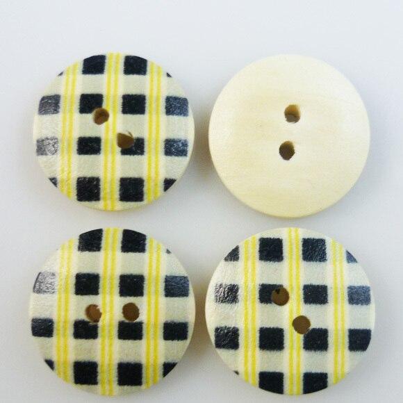 ộ_ộ ༽100 unids 18mm rejilla pintura botones de madera ropa de coser ...