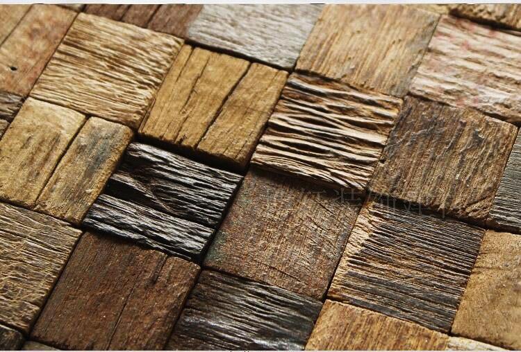 Tstawt004 grano di legno piastrelle rugosità finitura marrone & tan