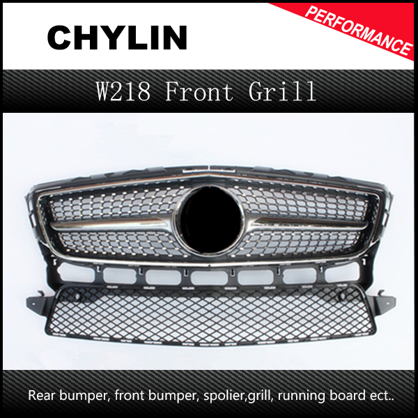 Diamond Style design replacement ABS Front <font><b>grill</b></font> mesh for Mercedes 2012-2014 CLS CLASS <font><b>W218</b></font> image