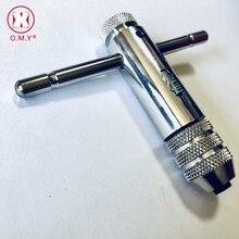 O.M.Y Трещоточный кран гаечный ключ Т-типа с длинной ручкой витой проволоки нарезающий ручной кран гаечный ключ шарнир ручные инструменты