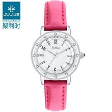 Julius Ladies Wrist Watch Quartz Hours Best Fashion Dress Korea Bracelet Brand Arabic Multi color Leather