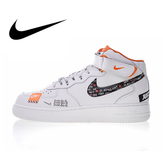 7290d2f4f3 Nike Air Force 1 Mid Men's Just do it Skateboarding Shoes Sport Outdoor  Designer Athletic Sneakers 2018 New Arrival AQ8650-100
