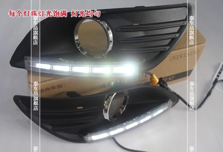 все цены на Free shipping daytime running lights LED Car DRL for Ford Focus 2 sedan 2009-14,Circular fog lamp frame