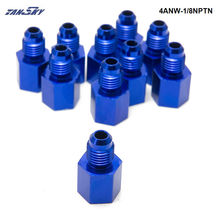 10PCS/LOT Fitting Flare Reducer Female -1/8NPT to Male -4AN Blue Oil/Fuel Fitting Adapter
