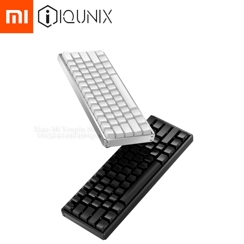 Xiaomi Mijia IQUNIX Bluetooth Dual Mode Mechanical Keyboard 61 Keys Bluetooth /Type c Wired CNC Aluminum Multi System Keyboard-in Smart Remote Control from Consumer Electronics    1