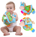 TOP 0-12 Month Baby Rattles Teether Toys Cute Donkey Animal Cloth Book For Toddlers Learning early Education Toys Christmas Gift