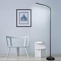 Black /white Modern Simple 8W LED Floor Standing Lamp Bedside Floor Lamp Standing Floor Light Reading Lamp