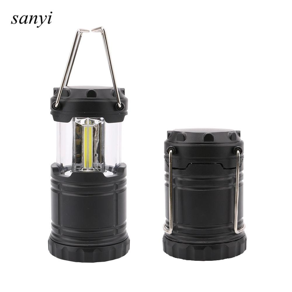 Mini Portable LED Tent Light Stretch Outdoor Camping Lantern Hiking Lamp 3 COB LED Waterproof Camping Light Powered By 3*AAA