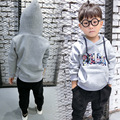 2016 autumn spring boys hoodies kids hooded pullover long sleeve colorful letter printed t shirt baby warm clothes children 3-7T