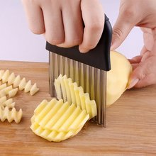 kitchen accessories Stainless steel potato knife wave slicer cutting machine cut French fries ripple fancy tools