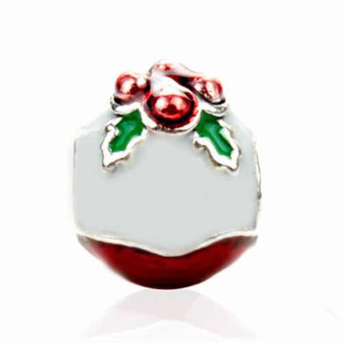 Đầm Maxi Nhỏ Cây Giáng Sinh Nạng Chuông Ông Già Noel Hạt Quyến Rũ Phù Hợp Với Pandora Vòng Tay & Lắc Tay Nữ Tự Làm Trang Sức Làm quà Tặng