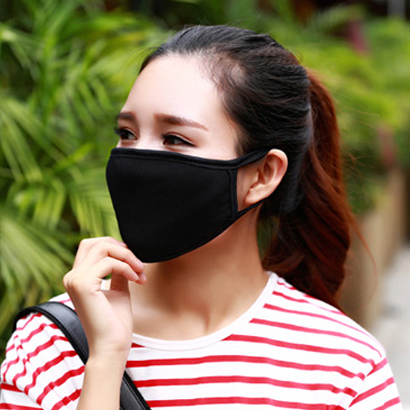 Face Mouth Mask Creative Black Luminous Cotton Dust Mask Outdoor Personality Teeth Glow Anti-fog Haze