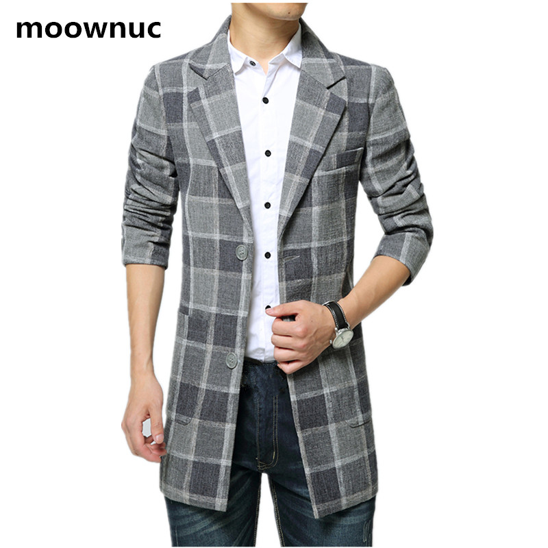 2018 new arrival Men's winter trench coat high quality Plaid wool jacket men,casual Windbreaker coats men,plus size M 5XL 6XL
