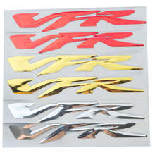 Chrome Gold Red Motorcycle 3D VFR Stickers Moto Bike Tank Decorated Decals Sticker case for HONDA VFR 400 800 1200