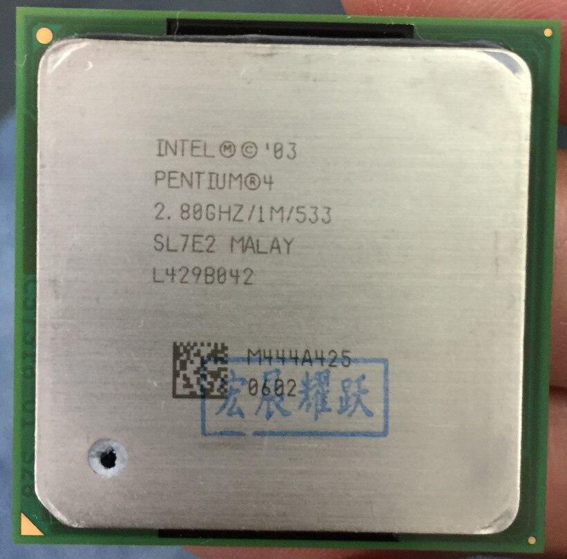 Intel Pentium 4 2.8 GHz P4 2.8G Socket 478 1 M 533 SL7E2 spécifications P4 2.8 Desktopprocessor CPU