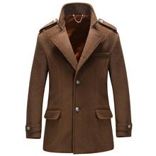 Long Wool Coat Men 2018 High Quality Men Trench Coat Winter Wool Blends Pea Coat Jacket
