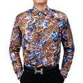 2017 New fashion Men Shirts casual Long Sleeve 3D animal printed tiger shirt mens Slim Fit high quality shirts brand clothing