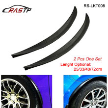 RASTP New Carbon Fiber Rubber Soft Black Bumper Strip Car Exterior Front Lip Kit / RS-LKT008
