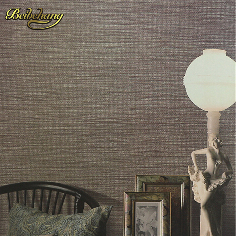 beibehang papel de parede. Modern neoclassical straw textured solid color stripes plain wallpaper paper parede para quarto