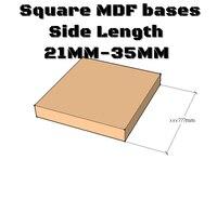 Квадратные MDF основы 20x-круглые Основы на заказ-лазерная резка древесины