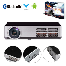 DLP-600W Android 4.4 1080P Mini 3D WiFi HD Cinema Theater USB LED Projector For PC laptop Free shipping