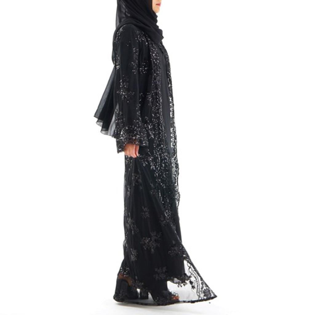 Женское платье-кардиган, длинное кружевное платье с блестками, 3,29