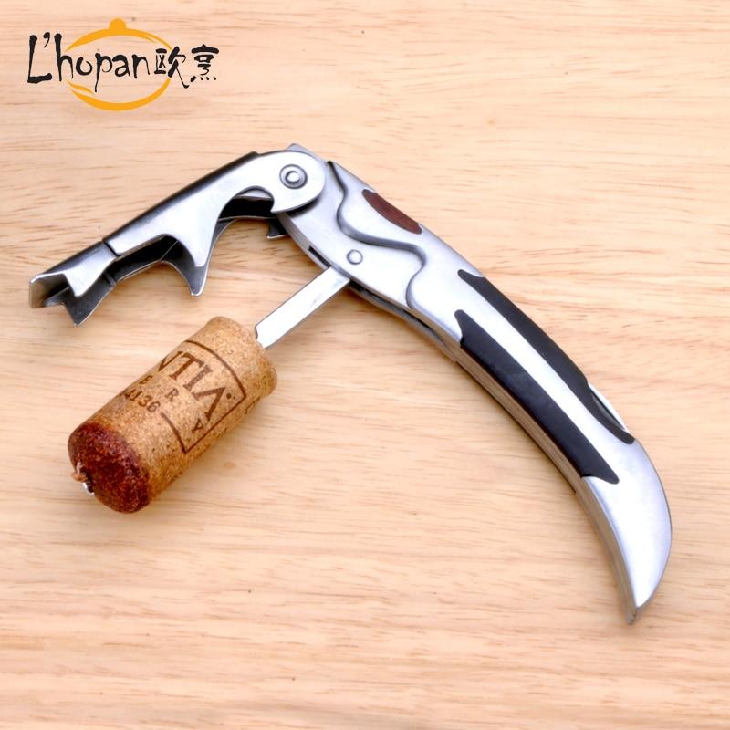 livraison gratuite acier inoxydable double fonctionnelle tire bouchon vin ouvre bouteille de. Black Bedroom Furniture Sets. Home Design Ideas