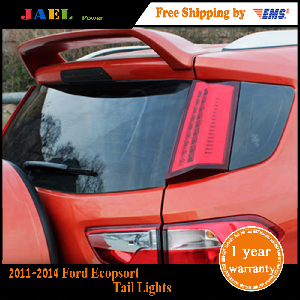 Jael Tail Lights Ecopsort Tail Lights 2011-2014 Ecosport LED Tail Light Forte Rear Lamp DRL+Brake+Park+Signal