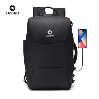 цена на OZUKO Backpack Men Anti Theft Casual 15.6 inch Laptop Bags Male USB Charging Waterproof Backpacks Business Travel Mochila New