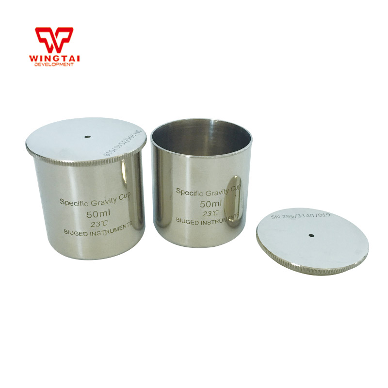 2016 Hot sale Lab Testing Stainless Steel Density Cup 50ml Capacity Specific Gravity Cup high quality 37ml stainless steel density specific gravity cups with din 53217 iso 2811 and bs 3900 a19 standard