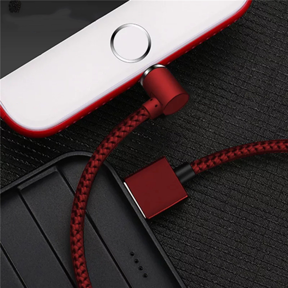 NOHON Elbow Magnetic Fast Charge Cable Lighting Micro USB Type C For iPhone X 7 8 Samsung Universal Phone Magnet Charging Cables (11)