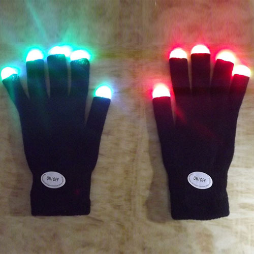 ⊰Blinkende Fingertip Licht Electro LED Blinkt Handschuhe Light Up ...
