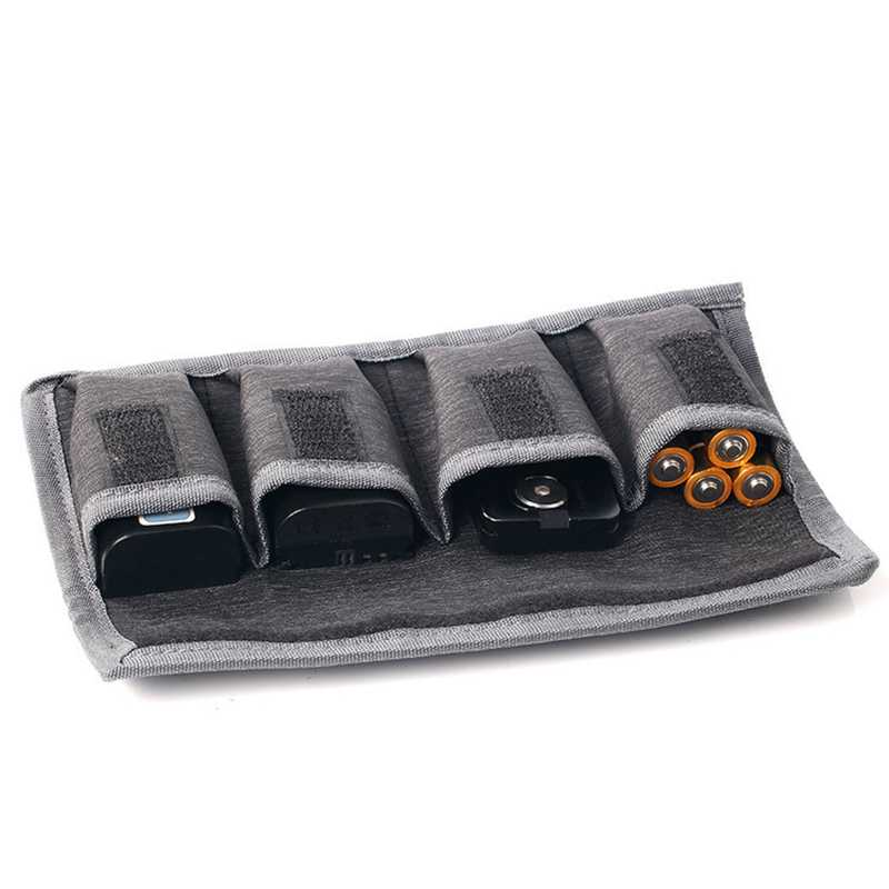 Аккумулятор DSLR чехол Водонепроницаемая ручка для мешка для хранения 4 кармана для Aa/Aaa батареи и батарея камеры DSLR