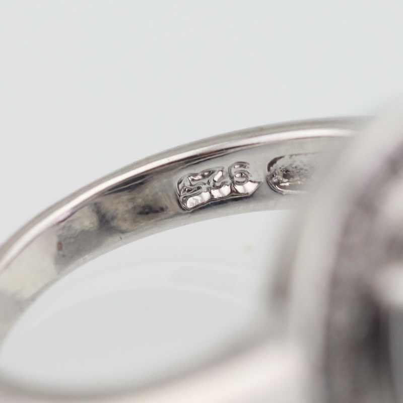 WPAITKYSสีดำกึ่งมีค่าหินสีเงินแหวนสำหรับผู้หญิงS Parklyแหวนหญิงเครื่องประดับคริสตัลขนาด6 7 8 9ฟรีกล่องของขวัญ