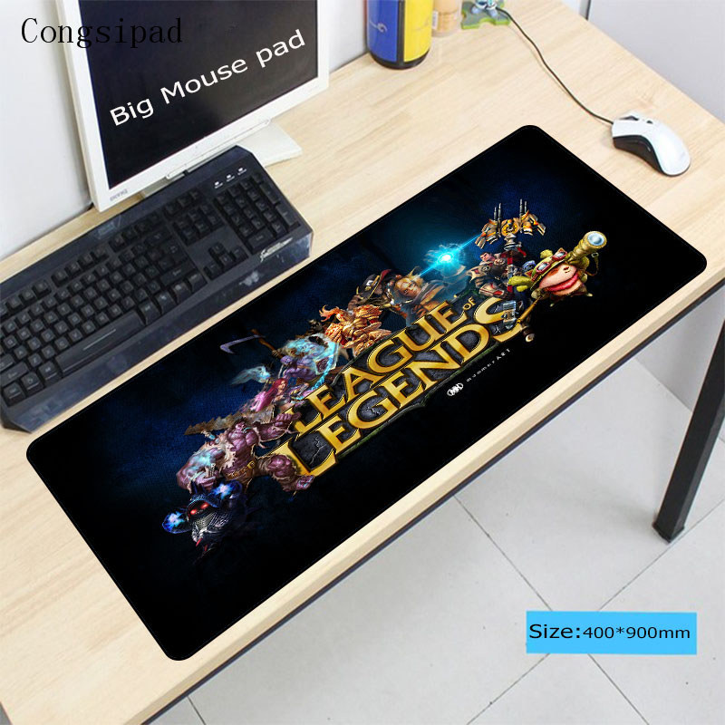 Congsipad Free Shipping Speed LOL Large Lock Edge Gaming Mouse Pad Computer for League Of Legends Dota CSGO Gamer Table MausePad image