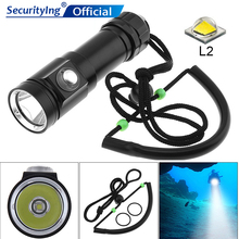 SecurityIng QH01 Diving Flashlight Torch 700 Lumens IPX8 Waterproof LED Underwater 300-500m Diving Flashlight for Diving solarstorm upgrade version dx4s diving flashlight 4 xcree xml u2 100 meters 3200 lumens suitable for outdoor sports diving