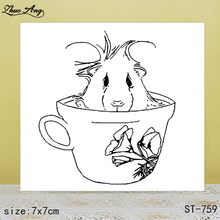 ZhuoAng Cute cup transparent silicone stamp / sticker DIY scrapbook photo album decorative seal