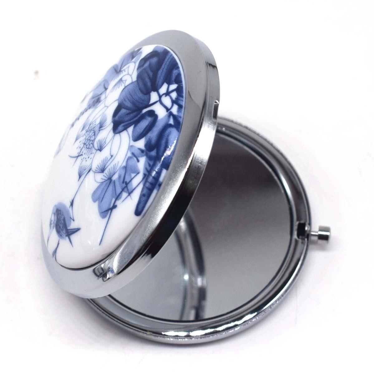 Beautiful Double Compact Handbag Mirror