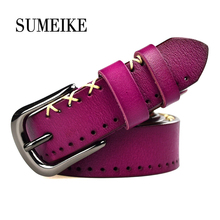 Фотография New 2016 Genuine Leather Belt For Women Strap Female Luxury Designer Brand Belt Women