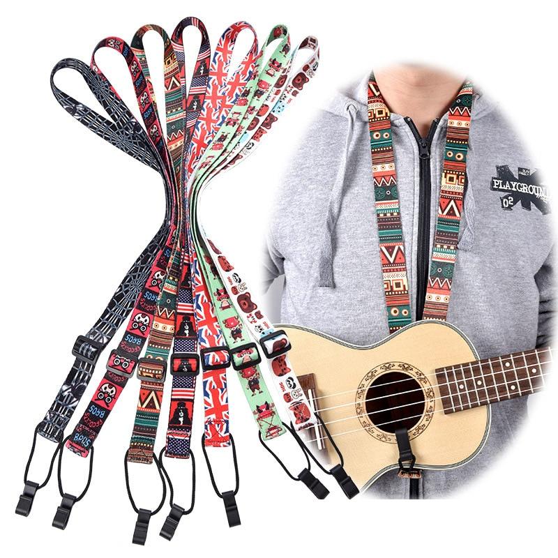 Adjustable Classical Nylon Ukulele Strap Sling Colorful With Hook For Ukulele Guitar Accessories xz 788 adjustable footrest for classical guitar black