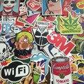 2016 Мода cool50-100 шт. ПВХ наклейки для Дорожного Чемодана стены Пенал Велосипед Телефон Скользящие Пластины смешанных граффити укладки