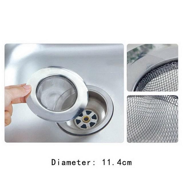 Hot Jual Baru Kedatangan Rumah Kitchen Sink Menguras Saringan Stainless Steel Mesh Basket Strainer Dapur R