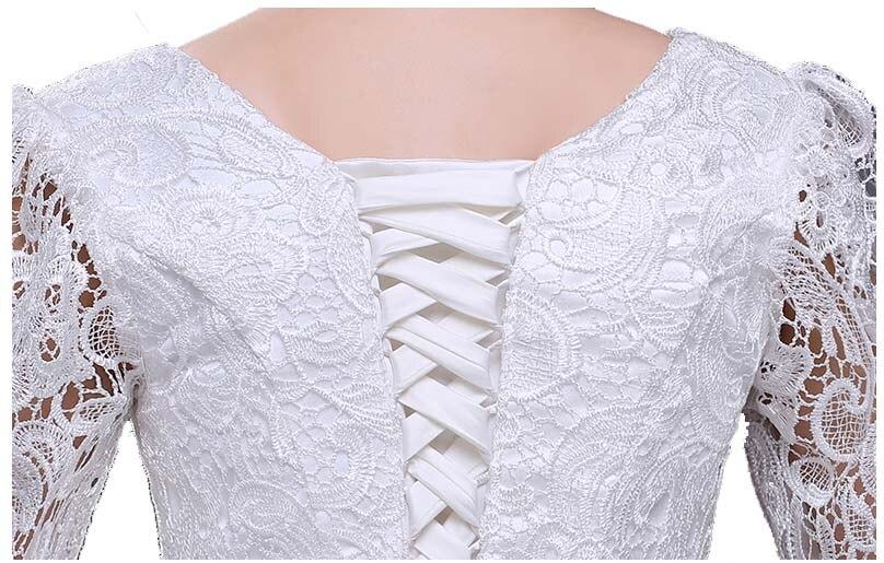Femmes adultes dames longues occasionnels noir anniversaire robes robe de soirée pour mère de la robe de mariée automne avec manches H2727 - 5