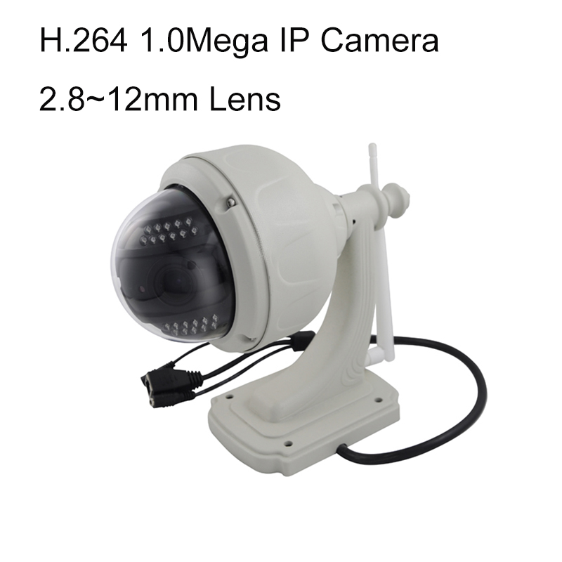 720P Wireless WiFi IP Camera Outdoor PTZ 2 8 12mm Auto focus Waterproof H 264 HD
