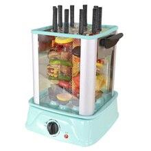 Бездымный Электрический гриль для барбекю, вращающийся гриль, барбекю 220 В, вертикальный гриль для барбекю, домашний электрический гриль, HKL-3018