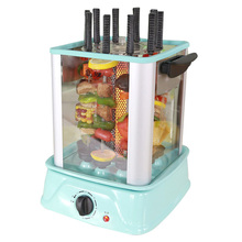 Smokeless Electric Grill Skewer Barbecue Machine Rotating Barbecue Vertical BBQ Grill Household Indoor Electric Grill HKL-3018